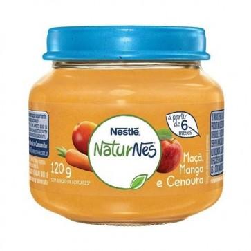 Alimento Infantil Nestlé Maça, Manga e Cenoura 120g