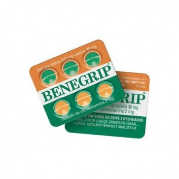 Benegrip Avulso 6 comprimidos 500mg