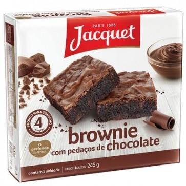 Brownie com Pedaços de Chocolate Jacquet 245g