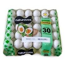 Ovos Brancos EXTRA Naturovos com 30 unidades