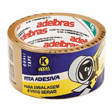 Fita Adesiva 48x45mm Marrom Adelbras