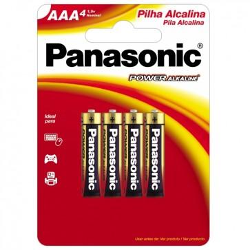 Pilha Palito AAA Alcalina c/4 Panasonic