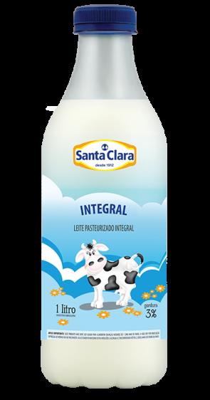 Leite Pasteurizado 3% Gordura Integral Sta. Clara 1l (garrafa)