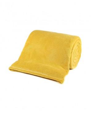 Manta TV Microfibra Amarela Lisa MARCHAND