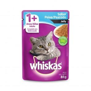 Alimento Para Gatos Whiskas Sachê Sabor Peixe Jelly 1+ anos 85g