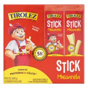 Queijo Stick Tirolez 600g c/10