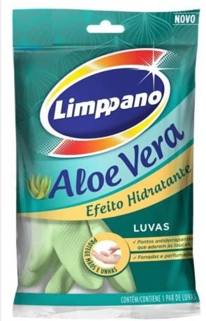 Luva Limpano Aloe Vera  M