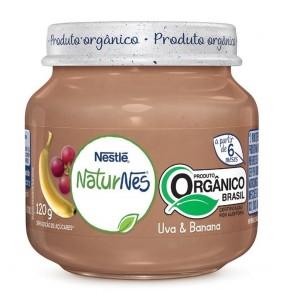 Alimento Infantil Nestlé Uva e Banana Orgânico 120g