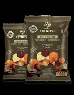 Chips Vegetais/Batata Doce Eatnlive 40g