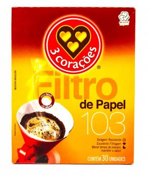 Filtro de Papel 3 Corações 103c/ 30Unid.