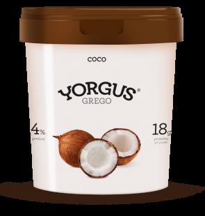 Iogurte Grego Yorgus 4% Gordura Coco 500g
