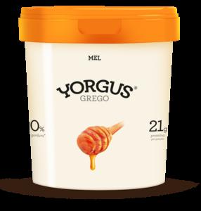 Iogurte Grego Yorgus 0% Gordura Mel 500g