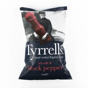 Batata Tyrrells Sal Marinho com Pimenta (Sea Salted & Black Pepper) 150g