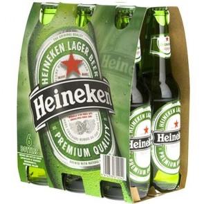 Cerveja Heineken 355mL - pack de 6 garrafas