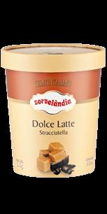 Sorvete Dolce Latte Straciatella Sorvelândia 950ml