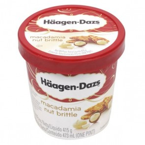 Sorvete Macadâmia Nut Brittle Haagen-Dazs 473ml