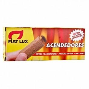 Acendedor Para Carvão E Lenha Fiat Lux Com 10 Unidades