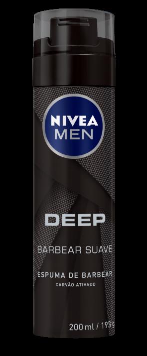Espuma de Barbear Nivea Carvão Ativado 200ml