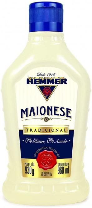 Maionese Hemmer 0% Gluten 930g