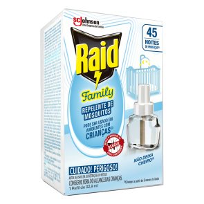 Repelente Raid Family 45 noites Refil 32,9ml