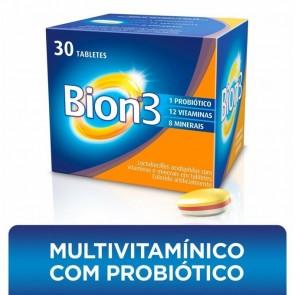 Tabletes Multivitamínico Com Probiótico Bion3 Com 30 Tabletes