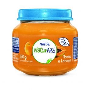 Alimento Infantil Nestlé Mamão e Laranja 120g