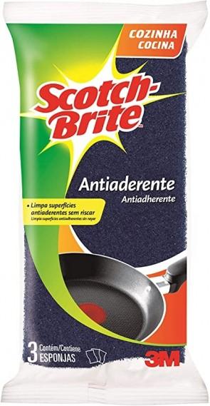 Esponja Scotch Brite Antiaderente c/3 und.