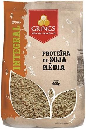 Proteína de Soja Grings Média Integral 400g