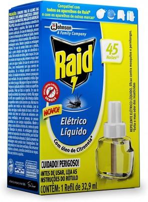 Repelente Raid Refil S/Cheiro Líquido 45 noites