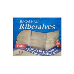 Lombo de Bacalhau Dessalgado Congelado Riberalves 1kg