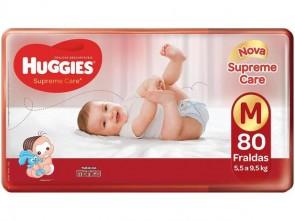 Fralda Huggies Supreme Care M C/80
