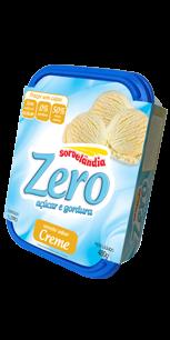 Sorvete Zero Gorduras Creme Sorvelândia 1L