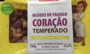Coração de Frango Temperado Resfriado Nutrifrango 700g