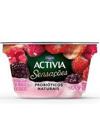 Activia Sensações Frutas Silvestres com Baunilha Danone 120g
