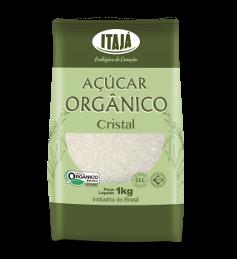 Açúcar Cristal Orgânico Itajá 1kg