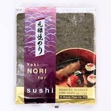 Alga para Sushi Yaki Nori 10 folhas 27g