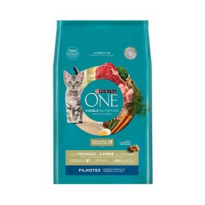 Alimento p/ Gato Purina One Filhotes Frango e Carne 500g