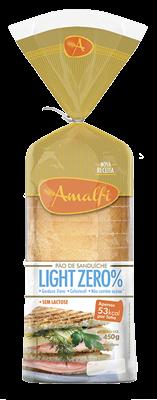Pão Light Sem Lactose Amalfi 450g