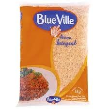Arroz Parboilizado Integral Blue Ville 1kg