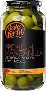 Azeitona Premium Manzanilla Vale Fertil 500g