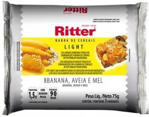 Barra de Cereal Banana, Aveia e Mel Ritter light 75g
