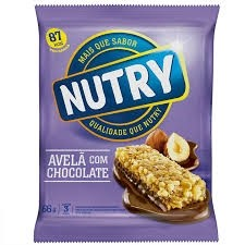 Barra Cereal Nutry Avelã com Chocolate 66g