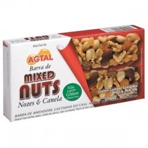 Barra Cereal Nozes e Canela Mixed Nuts Agtal 60g c/2