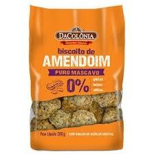 Biscoito de Amendoim Açucar Mascavo sem Glúten Da Colônia 200g