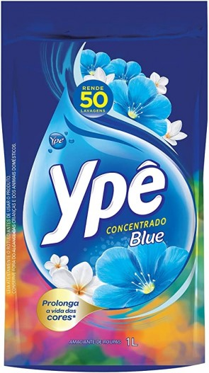 Amaciante Concentrado Ype Blue Sache 1L