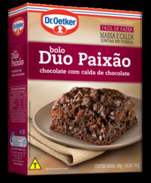 Mistura para Bolo Dr Oetker Duo Paixão Chocolate com Calda de Chocolate 450g
