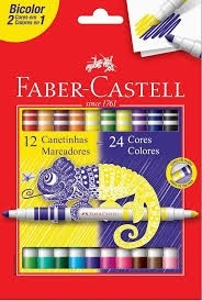 Hidrográfica c/12 Bicolor Faber-Castell