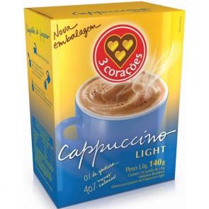 Café 3 Corações Cappuccino Light Sache 140g