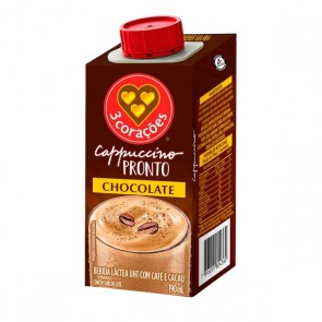 Bebida Cappuccino Pronto Chocolate 3 Corações 190ml