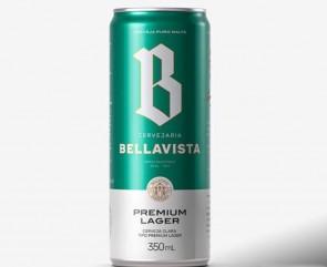 Cerveja Lager Lata Bellavista 350mL